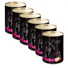 Konzerva Piper Adult s hovädzími držkami 6 x 400 g