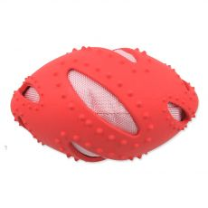 Dog Fantasy TPR Rugby lopta červená 16 cm
