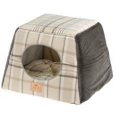 Ferplast Edinburg domček pre mačky hnedý 44 x 44 cm