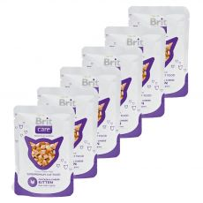 Kapsička Brit Care Kitten Chicken & Cheese 6 x 80 g