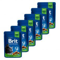 Kapsička BRIT Premium Cat Chicken Slices for Sterilised 6 x 100 g