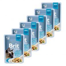 Kapsička BRIT Premium Cat Chicken in Gravy 6 x 85 g