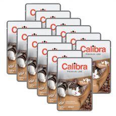 CALIBRA Cat Adult jahňacie a hydinové kúsky v omáčke 12 x 100 g
