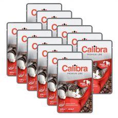 CALIBRA Cat Adult kuracie a hovädzie kúsky v omáčke 12 x 100 g