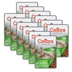 CALIBRA Cat Adult Sterilised kúsky s lososom v omáčke 12 x 100 g