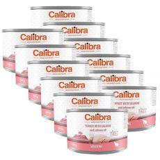 Calibra Cat Sensitive GF - Morka a losos s lososovým olejom, konzerva 12 x 200 g
