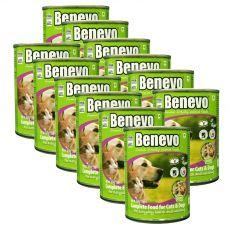 Benevo Duo kompletné krmivo pre mačky a psy 12 x 369 g