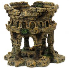 Dekorácia AQUA EXCELLENT Zrúcanina hradu 12,5 x 12 x 12 cm