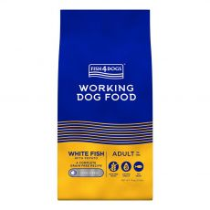 FISH4DOGS Working Dog Food White Fish Adult 15 kg