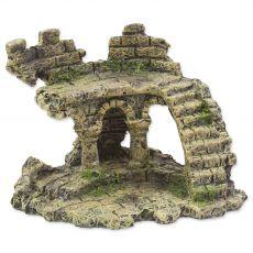 Dekorácia AQUA EXCELLENT Zrúcanina hradu 13 x 9,7 x 9,5 cm