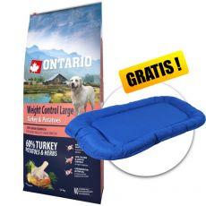 ONTARIO Weight Control Large - turkey & potatoes 12kg+ DARČEK