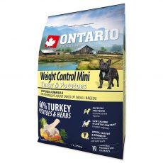 ONTARIO Weight Control Mini - turkey & potatoes 2,25 kg
