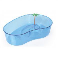 Terárium pre korytnačky s palmou veľké modré