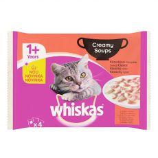 Whiskas Creamy Soups Klasický výber 4 x 85 g