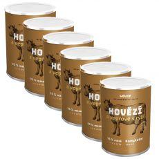LOUIE Hovädzie a bravčové s ryžou 6 x 400 g