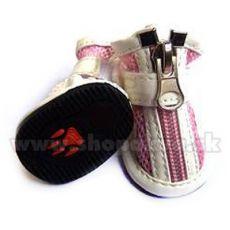 Topánočky pre psa vzdušné - ružové (4ks) - veľ.4