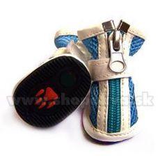 Topánočky pre psa vzdušné - modré (4ks) - veľ.2