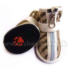 Topánky pre psy semišové - svetlohnedé (4ks) - veľ.3