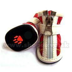 Topánky pre psa na zips červené (4ks) - veľ.3