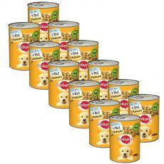 Pedigree konzerva s kuracím v želé pre šteňatá 12 x 400g