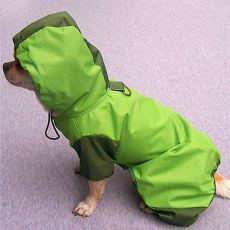 Pršiplášť pre psa - zelený, XS