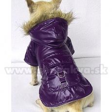 Vetrovka na psa - nepremokavá, fialová, XS