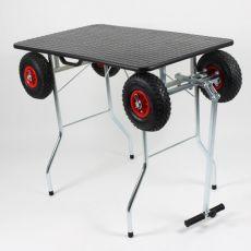 Stôl skladací - trimovací s terénnymi kolesami 100 x 60 cm