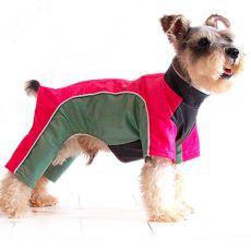 Overal pre psíka - ružovozelený, XS
