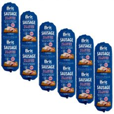 BRIT Sausage Chicken & White Fish 6 x 800 g