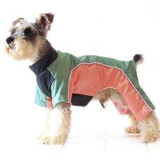 Overal pre psíka - zeleno broskyňový, XS