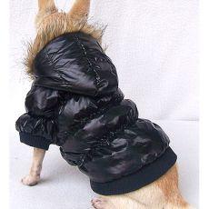 Vetrovka pre psa - pérová, čierna, XS