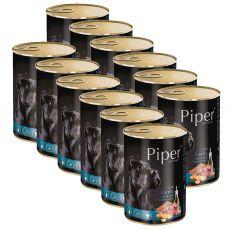 Konzerva Piper Adult s jahňacinou, mrkvou a hnedou ryžou 12 x 400 g