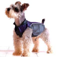 Vesta pre psíka - fialovočierna, suchý zips, XXL