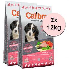 CALIBRA Dog Premium Line JUNIOR LARGE 2 x 12 kg