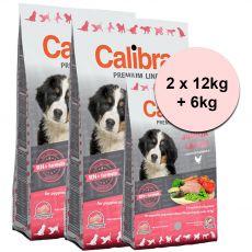 CALIBRA Dog Premium Line JUNIOR LARGE 2 x 12kg + 6kg GRATIS