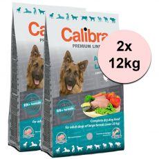 CALIBRA Dog Premium Line ADULT LARGE 2 x 12 kg