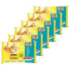 Kapsičky Friskies Cat losos, tuniak, sardinky a treska v šťave 6 x (4 x 85 g)
