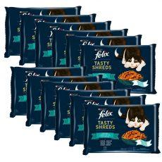 Kapsičky FELIX Tasty Shreds lahodný výber z rýb v šťave 12 x (4 x 80 g)