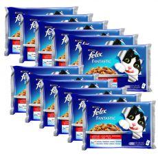 Kapsičky FELIX Fantastic - hovädzie a kura v želé, 12 x 400 g