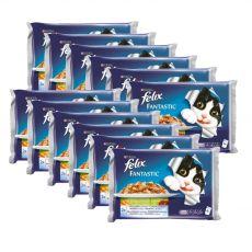 Kapsičky pre mačky FELIX - ryby so zeleninou v želé, 12 x 400 g