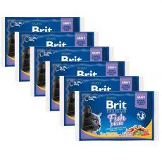 Kapsičky BRIT Premium Cat Fish Plate 6 x (4 x 100 g)