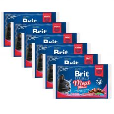 Kapsičky BRIT Premium Cat Meat Plate 6 x (4 x 100 g)