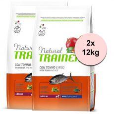 Trainer Natural Medium Adult ryba a ryža 2 x 12 kg