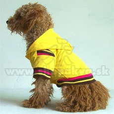 Svetrík s kapucňou pre psa - žltý, M