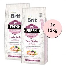 Brit Fresh Chicken with Potato Puppy Healthy Growth 2 x 12 kg