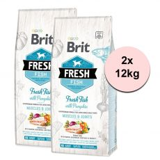 Brit Fresh Fish with Pumpkin Adult Large 2 x 12 kg