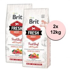 Brit Fresh Beef with Pumpkin Puppy Large 2 x 12 kg