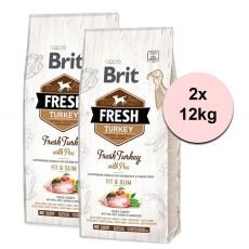 Brit Fresh Turkey with Pea Adult Fit & Slim 2 x 12 kg