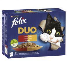 Kapsičky FELIX Fantastic DUO, lahodný výber v želé 12 x 85 g