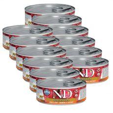 Farmina N&D cat Quinoa Herring & Coconut konzerva 12 x 80 g